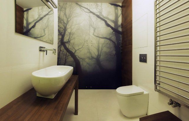 aménagement de salle de bains sans fenêtres avec une vasque élégante