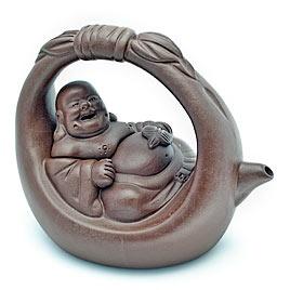 Laughing Buddha Yixing TeapotLaugh Buddha, Buddha Yixing, Teas Time, Laughing Buddha, Yixing Teapots, Theepotten Teas, Teas Pots, Teapots Variations, Things