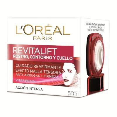 Crema facial LOréal Paris Revitalift antiarrugas rostro contorno y cuello 50 ml