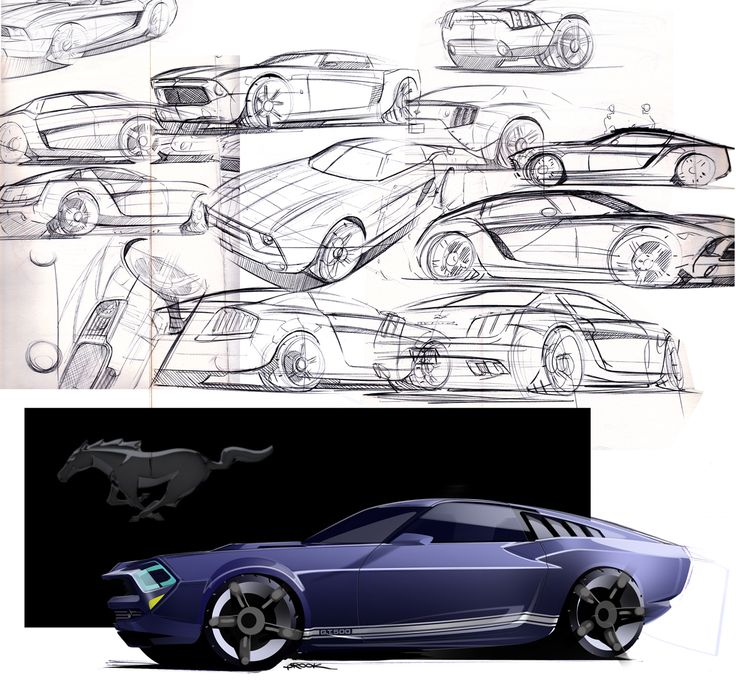 Mustang Concept Sketch | Car design | Pinterest | Chevy ...
