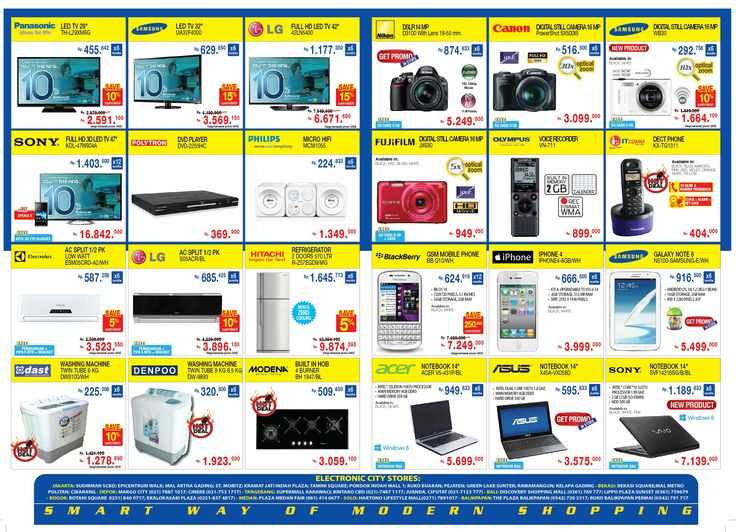 Catalogue EC Store edisi 35  periode 31 Agustus - 6 September 2013   Online Shop WWW.ELECTRONIC-CITY.COM