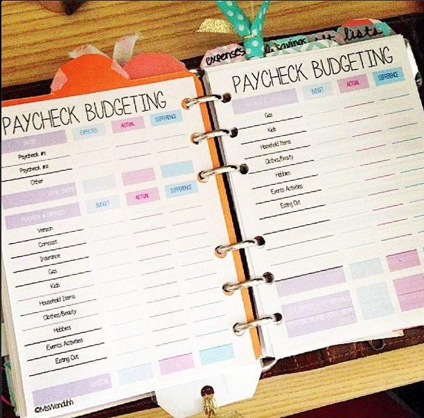 Paycheck Budgeting Printable | MsWenduhh | Bloglovin'
