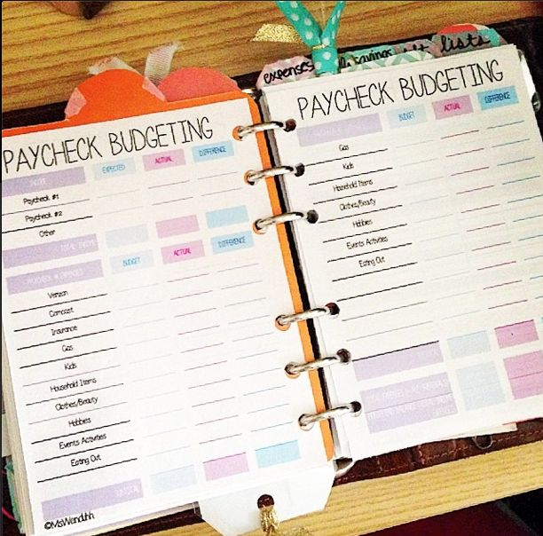 MsWenduhh Planning & Printing: Paycheck Budgeting Printable - pocket sizes
