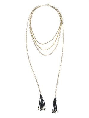 Isabel Marant Paris Lovers layered necklace