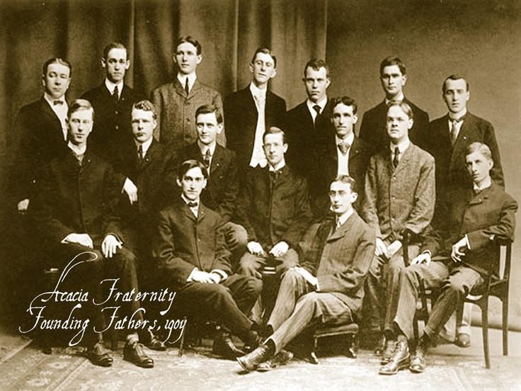 Acacia fraternity, early 1900s