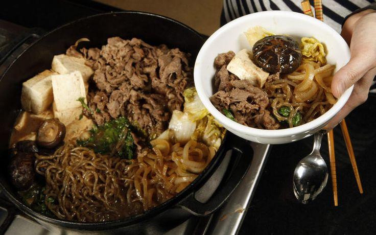Tokyo-style beef sukiyaki - MasterCook