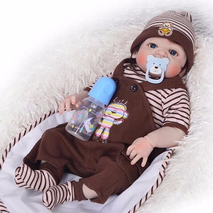NPKCOLLECTION 57 cm Realistic Full Silicone 23'' Reborn Baby Doll For Sale Lifelike Baby Alive Dolls Kids Playmate Xmas Gifts