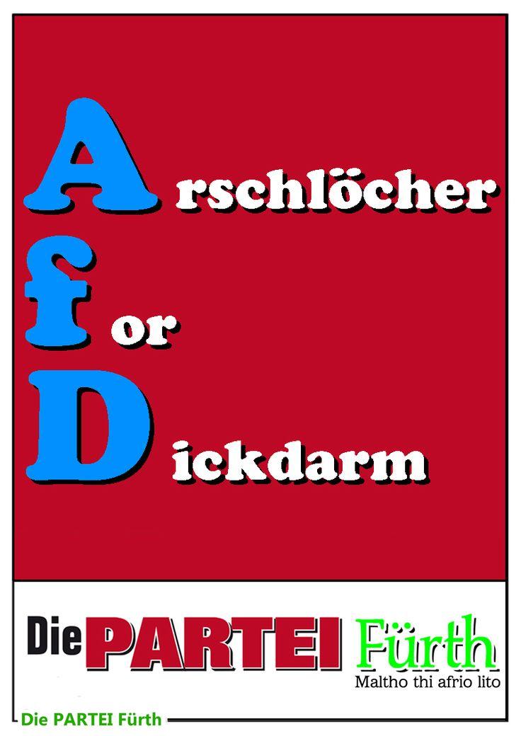 Plakat Partei AfD Arschlöcher Dickdarm 800 Poster