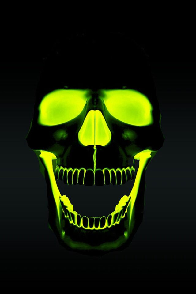 Reverse paint a skull. Pay t skull black, paint eyes, nose, inside of mouth, with UV reactive or glow in the dark paint.