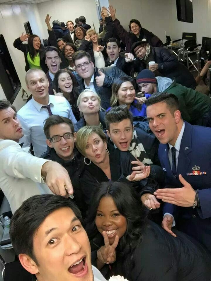 Glee cast #selfie
