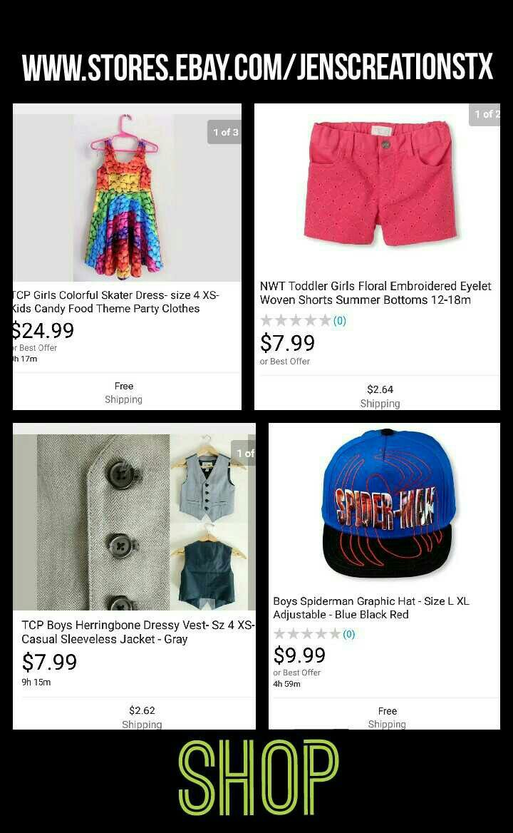 Shop great clothes with great prices! FOLLOW: SalesForToday Also Visit: www.stores.ebay.com/jenscreationstx