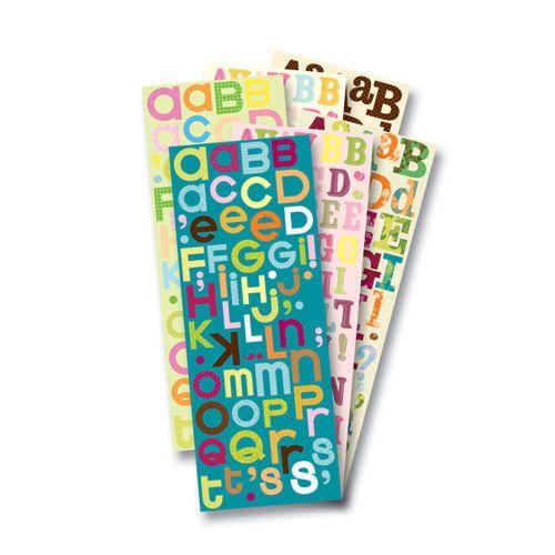 Naklejki Literki Alfabet | Zestawy do scrapbooking 'u \ Akcesoria i dekoracje Akcesoria i dekoracje \ Naklejki Ozdobne \ Literki, Cyferki Producenci \ KandCompany