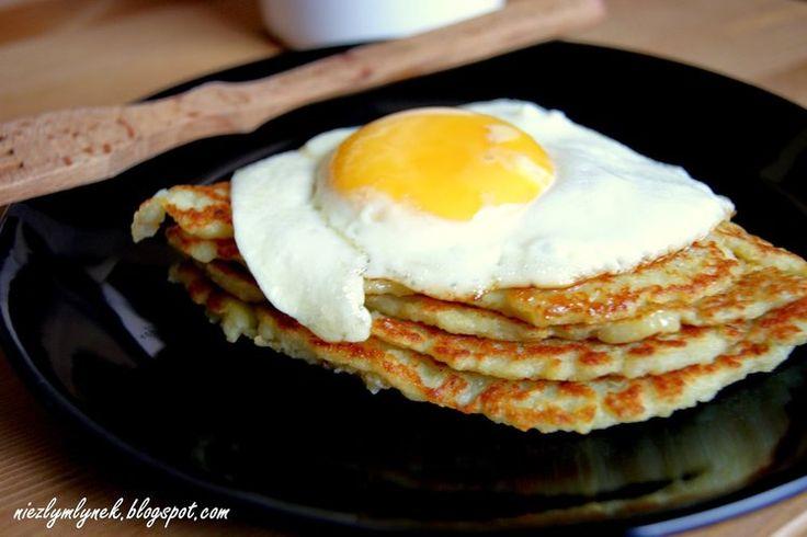 Pieczone bliny ziemniaczane z jajkiem