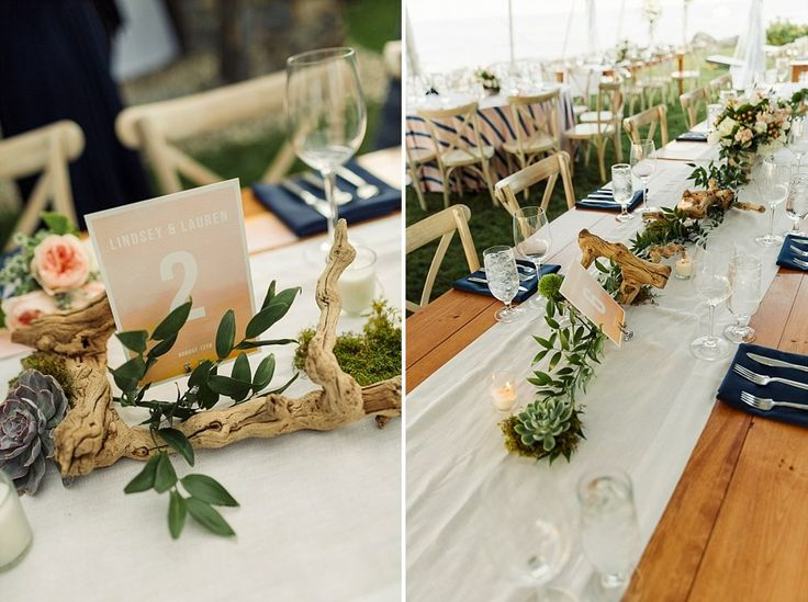 Coastal wedding decor. Coastal Maine Wedding in Cape Neddick   Hailey & Joel   Maine Wedding Photographers