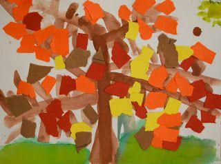 Adventures of an Art Teacher: Kindergarten Fall Trees