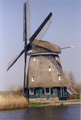 Polder mill Molen D / Oosterdel, Broek op Langedijk, the Netherlands.