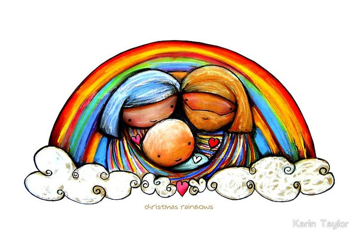 Christmas Rainbows Nativity prints and cards by Karin Taylor http://www.redbubble.com/people/karin/works/2056101-christmas-rainbows-nativity FB www.facebook.com/karintaylor.com Web www.redbubble.com/people/karin