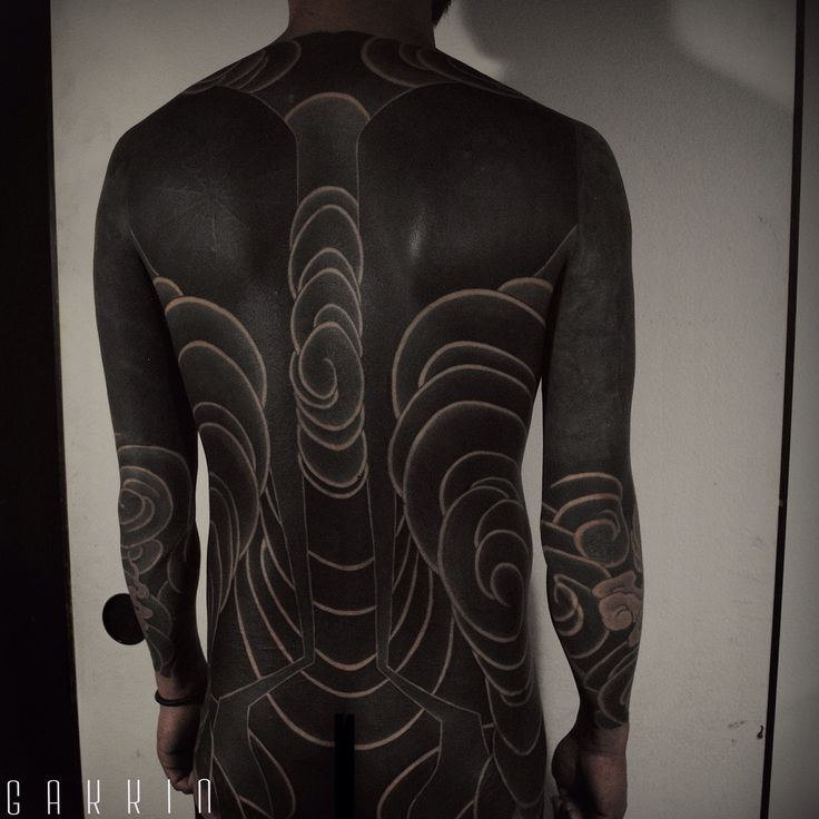 111 best all black images on pinterest tattoo ideas for Blackout tattoo back