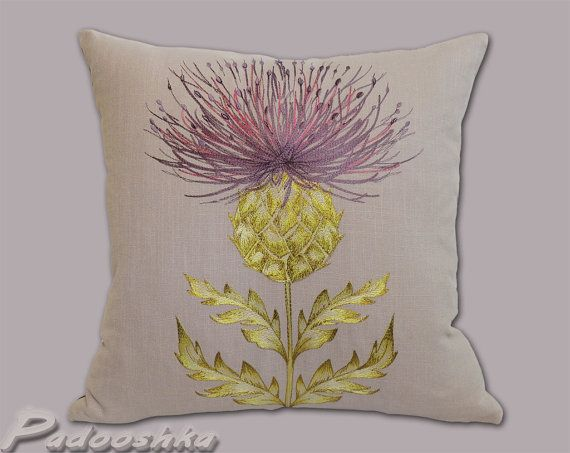 living room cushion covers orange thistle throw pillow cover scottish cushion 16 15281