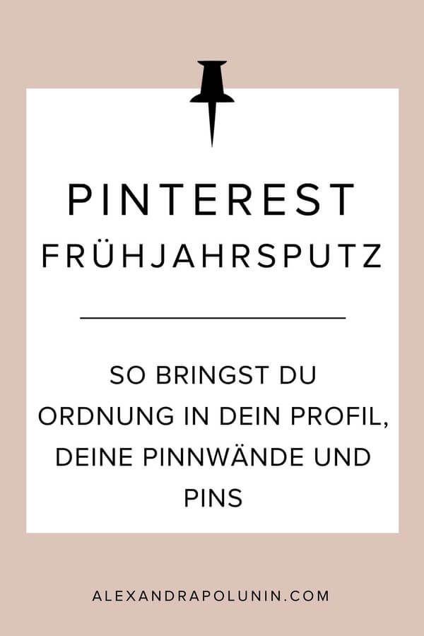 Pinterest-Frühjahrsputz! Als waschechter Pinterest-Nerd miste ich natürlich nicht nur meinen Kleiderschrank aus, sondern verpasse auch gleich meinem Pinterest-Account einen kleinen Frühjahrsputz. Denn von Zeit zu Zeit bringe ich gerne frischen Wind in meine allerliebste Marketing-Plattform.🖤 Bist du dabei? Dann lass uns deinen Pinterest-Account jetzt gemeinsam aus dem Winterschlaf holen! #pinterestmarketing #pinterest #pinteresttipps #socialmediamarketing