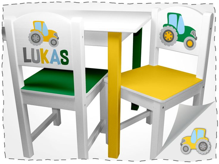 Kindermöbel - Kinder Sitzgruppe Traktor - ein Designerstück von minigalerie-print bei DaWanda