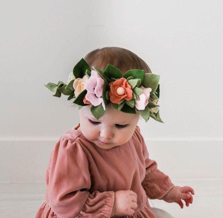 Felt Flower Crown by LittleBloomsHandmade on Etsy https://www.etsy.com/listing/515800449/felt-flower-crown
