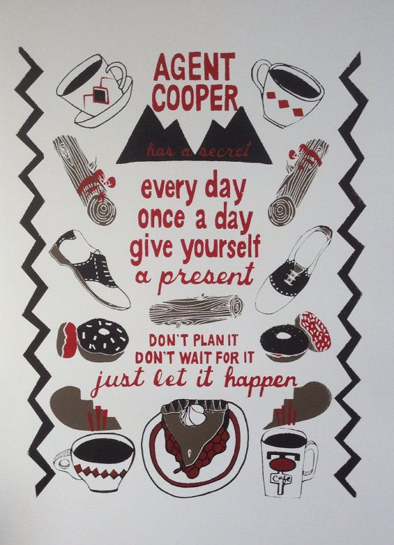 Twin Peaks Screenprint  Silkscreen Poster  by LesleyAnneNumbers, $25.00
