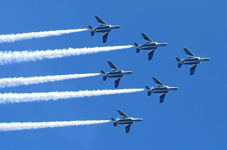 Blue Impulse/ The Japanese Air Self Defense Force.
