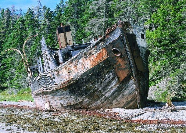 Shipwreck on Anticosti Island