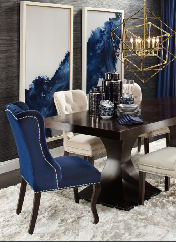 Minus lamp for me. Elegant Dining: Dakota Table + Archer Chairs