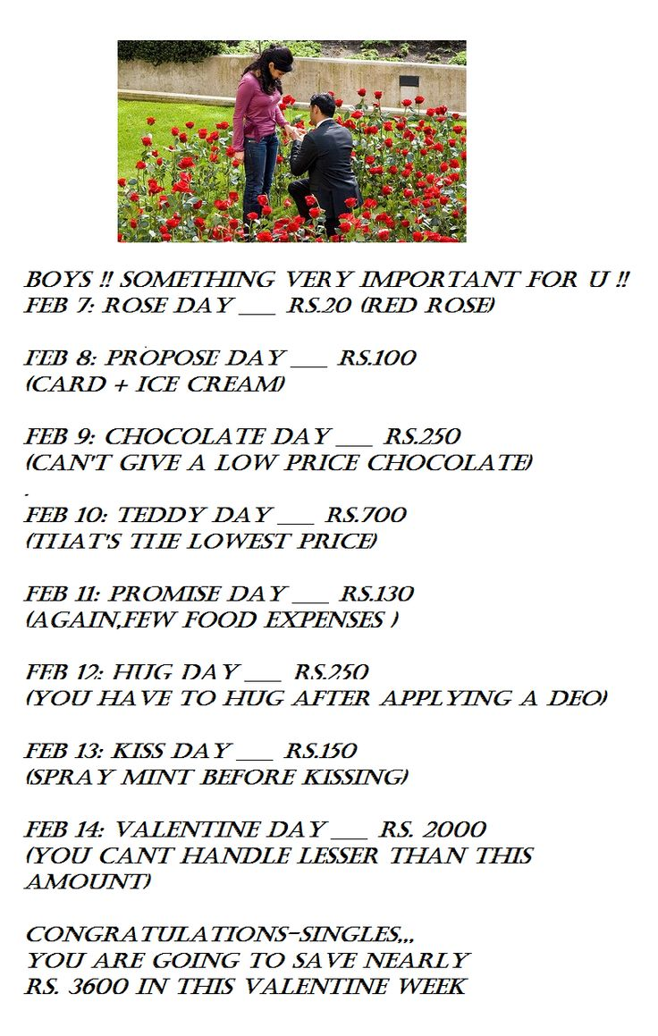 Money saving tips for bachelor in this valentine week