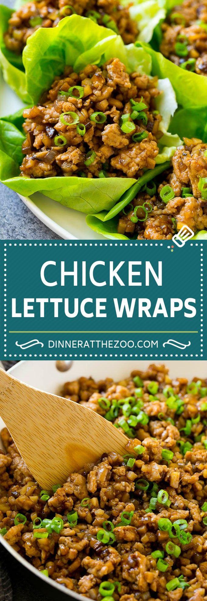 Ricetta di involtini di pollo alla lattuga | PF Chang's Lettuce Wraps | Tazze di pollo alla lattuga # …
