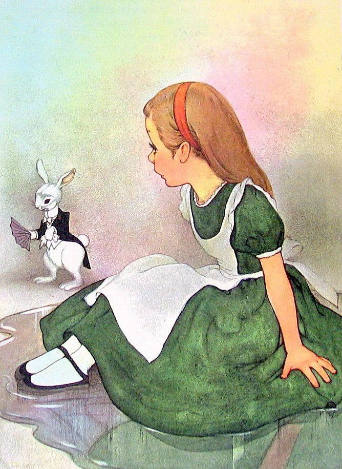 Алиса в стране чудес иллюстрация и картинки