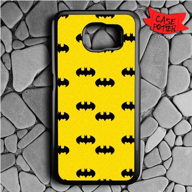 Batman Logo Pattern Samsung Galaxy S7 Black Case