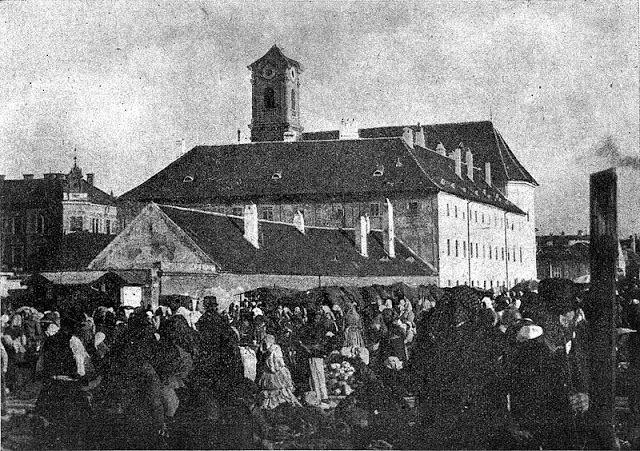Budapest anno: több, mint nosztalgia...: Ilyen volt... A Batthyány tér - 1880-as évek - ekkor még Bomba tér. Batthyány nevét 1905-től viseli.