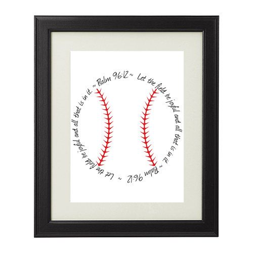"Psalm 96:12 Printable Religious Bible Verse Baseball Sign, ""Let the Field be joyful and all that is in it."" INSTANT DOWNLOAD"