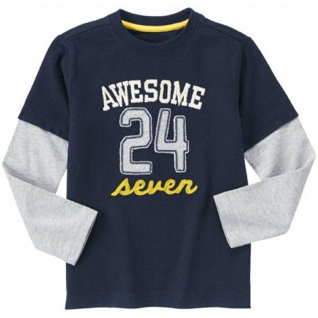 Camiseta Gymboree Awesome 24 Seven manga larga