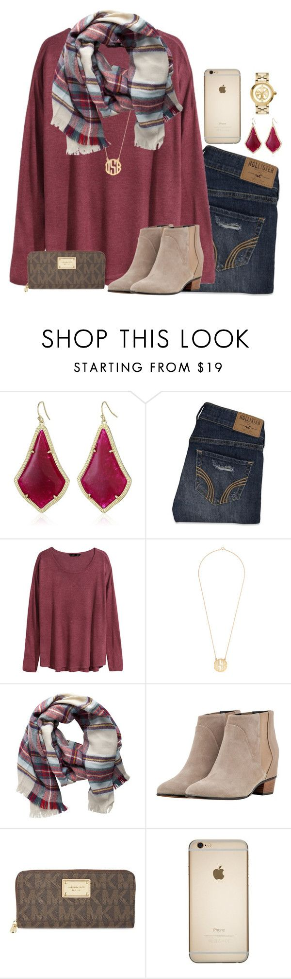 """sooooo ready for Christmas!"" by julesnewkirk ❤ liked on Polyvore featuring Kendra Scott, Hollister Co., H&M, Pieces, Golden Goose, MICHAEL Michael Kors and Tory Burch"