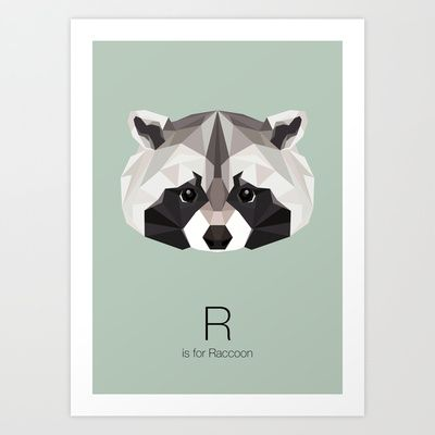 R is for Raccoon by LinnMaria_ink