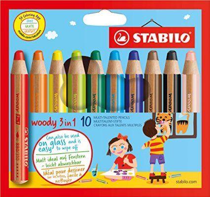 STABILO woody 3 in 1 10er Etui - Multitalent-Stifte