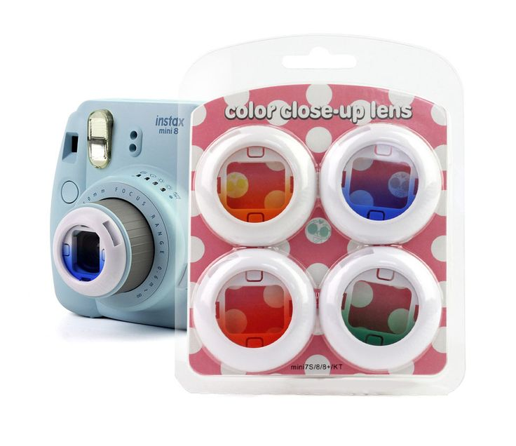 4PCS Gradient Color Camera Lens Filter Set Close Up Lens For Fuji Fujifilm Instax Mini 8 7s 8+ Kitty Instant Shooting Camera //Price: $13.28 & FREE Shipping //     #DRONE