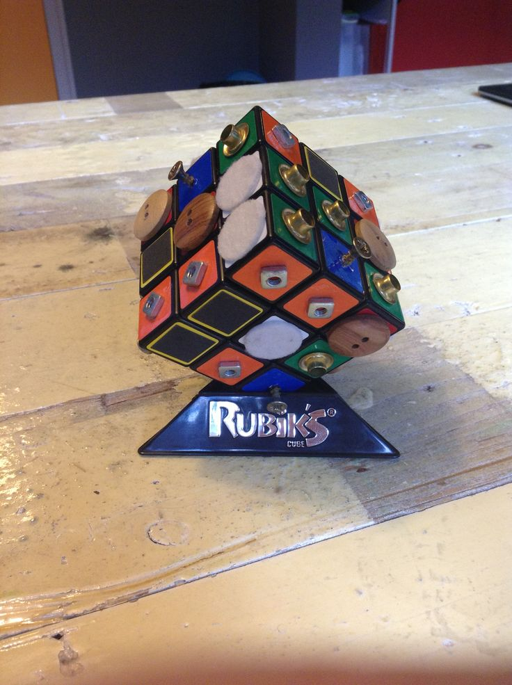 Tactile Rubik's cube for the blind. Insired by Brian Doom's Accessible Cube Puzzle. Recreated by Araceli Thomas for the Monpellier Venture Game Solutions Lab to inspire and show the strength of applied games.