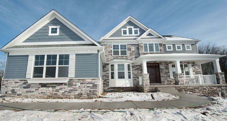 Stone Front Elevation House : With new england front elevation including stone bay