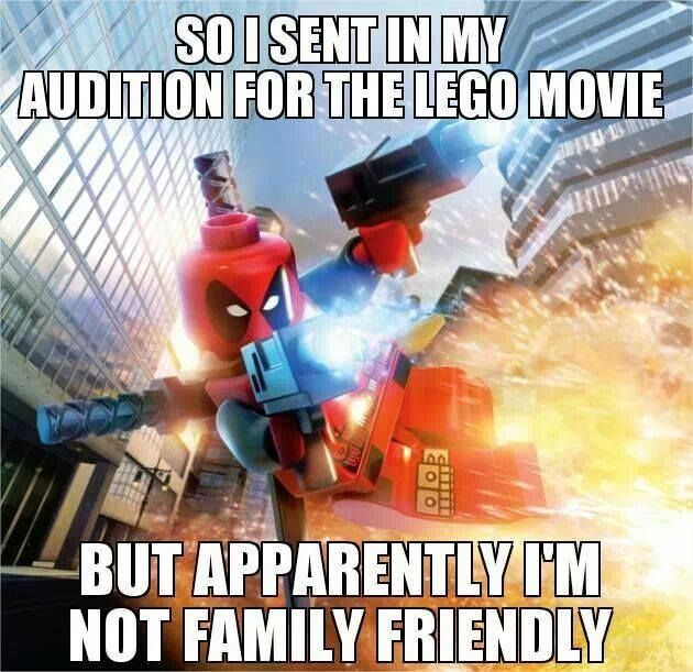 Deadpool and the LEGO movie LOL deadpool!