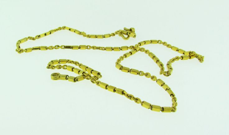 Vintage 24 K solid gold chain necklace by VintageJewelryBazaar on Etsy