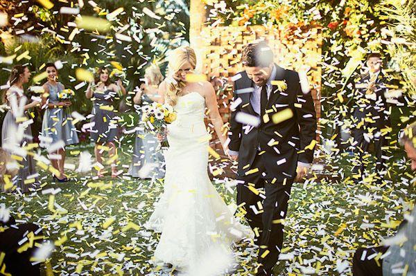 confetti exit ideas http://trendybride.net/clouds-of-confetti-wedding-exit-ideas/