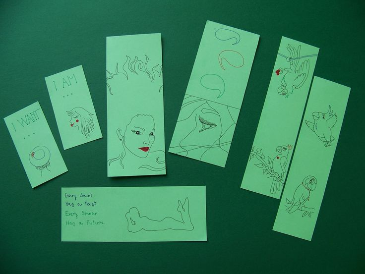 Handmade bookmarks and affirmation cards by Lady Lu.
