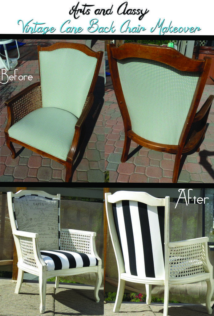 DIY Tutorial : Cane Back Chair Makeover in 10 Steps