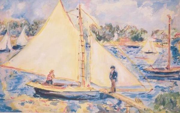 A watercolour impression of boats - Marlene Dickerson