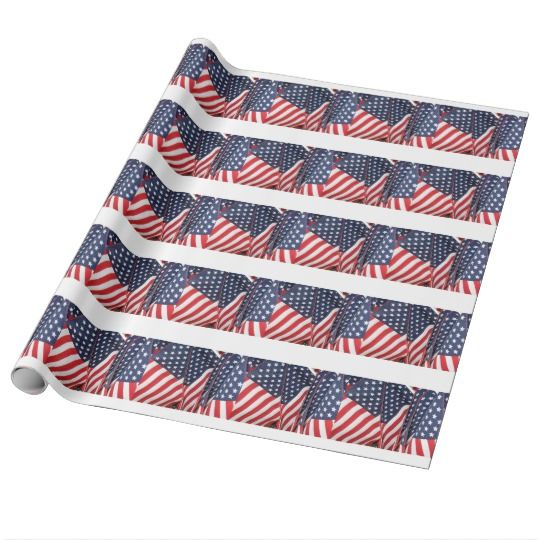 Patriotic Flag Wrapping Paper